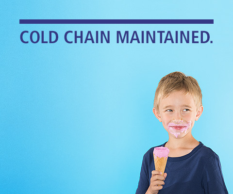 COLD CHAIN MAINTAINED. MOBIL